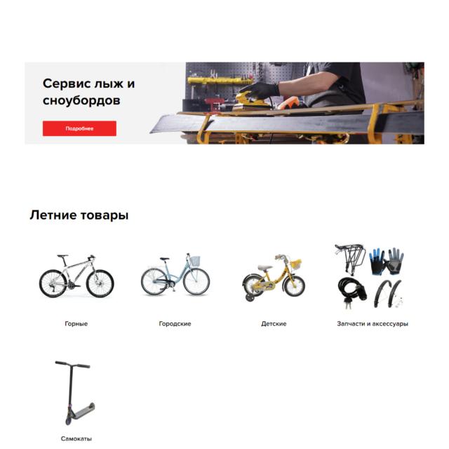 Создание интернет-магазина - скриншот сайта